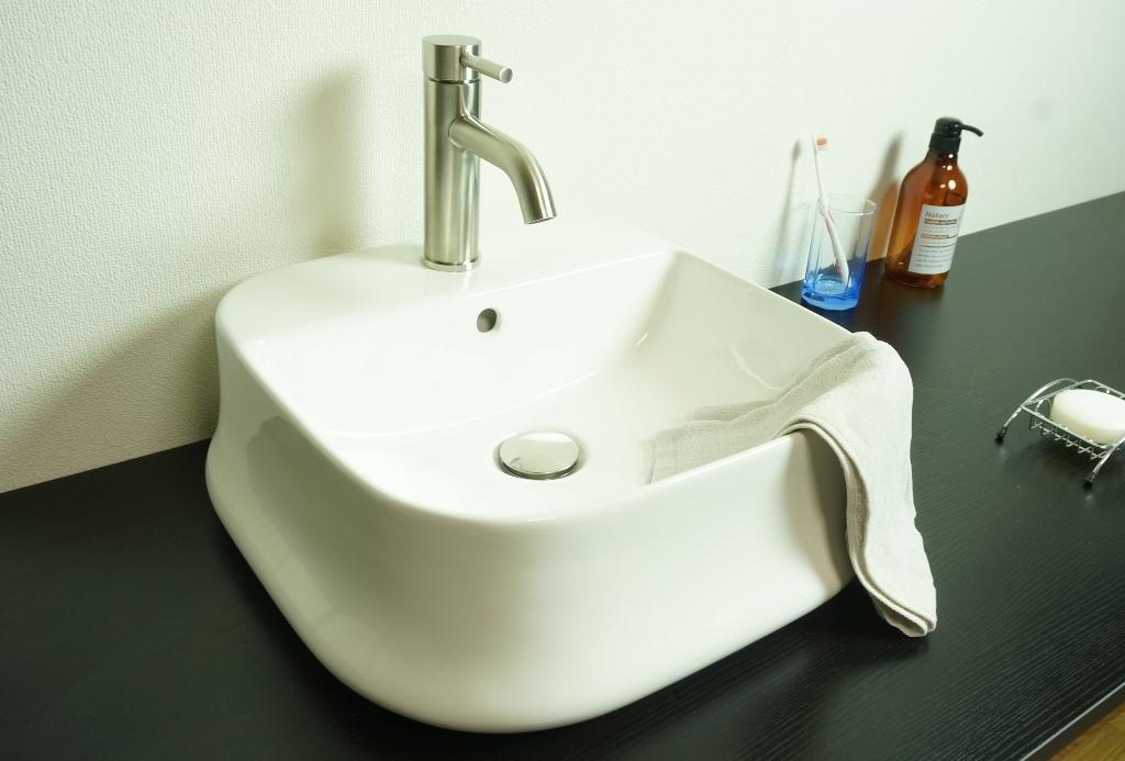 【洗面器 T267A】お買得4点セット/洗面ボウル+水栓(蛇口)+排水栓+選べる排水トラップ(S床/P壁)送料無料!!キャンペーン特別価格