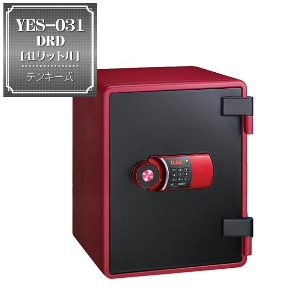 インテリア金庫 YESレッド YES-031DRD (テンキータイプ) | 【送料無料!】41リットル テンキー式でシンプルな操作性。美しいレッド&ブラックでインテリア性の高い金庫はリビングに置いても様になります。家庭用に!オフィス用に! 耐火金庫 カラー金庫
