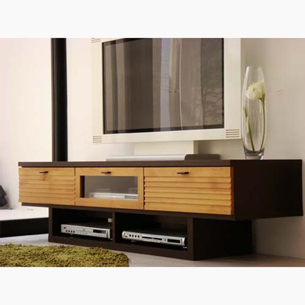 テレビボード [FE 160 PZTV]| ルーバーデザインが特徴のテレビボード。幅160cmの広々サイズ。大型液晶テレビに! シンプル AV台 テレビ台 AVボード TV台