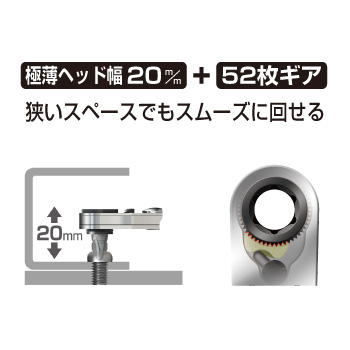 ANEX 525-28B Thin Type Ratchet Drivers Set