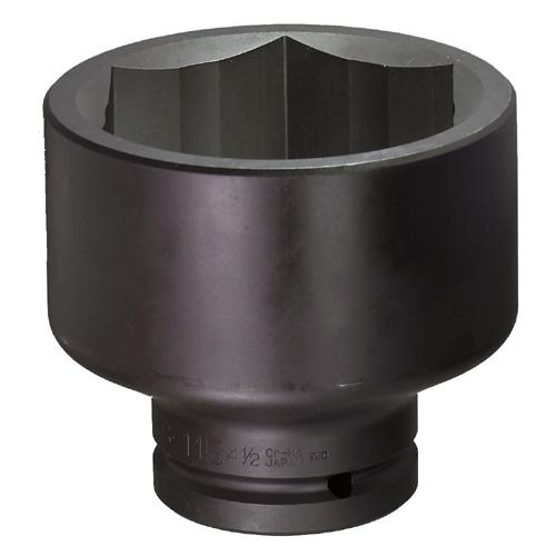 FPC 38.1mm 1.1/2WS-115(4-1/2) インパクト ショート ソケット FPC 対辺 差込角 38.1mm 対辺 115mm 4-1/2