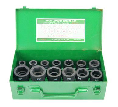 FPC 4WS-S14 インパクト ショートソケット セット 差込角 12.7mm 14pc
