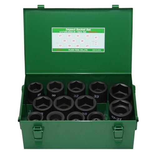 FPC 8WA-S13 インパクト セミロングソケット セット 差込角 25.4mm 13pcs