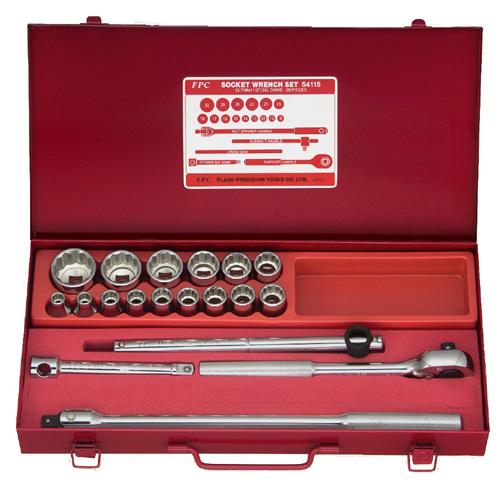 FPC S-4115(ISO-12P) ソケットレンチセット 差込角12.7mm 20pcs