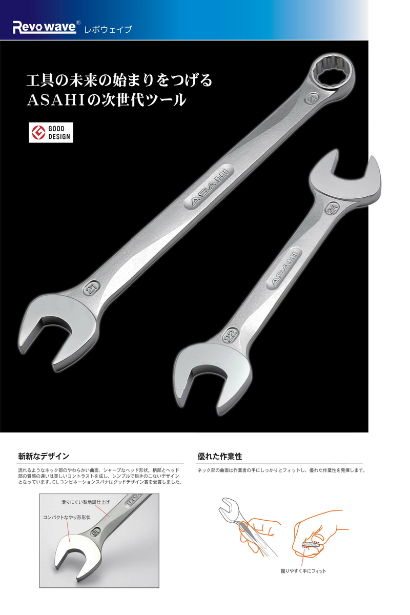 ASAHI CL0032 Revowave Combination Wrench 32mm