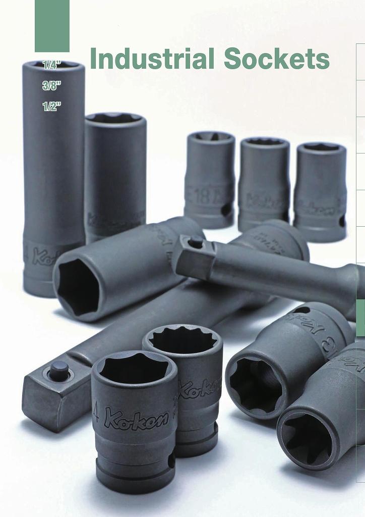"Ko-ken 112-50B 1/4""(6.35mm)h Adaptor Length=50mm Male=3/8""(9.5mm)sq."
