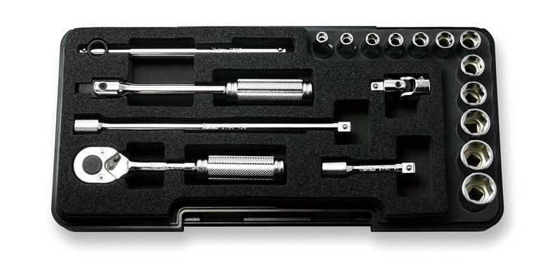 Ko-ken P2251M 6.35sq. ソケットセット 18ヶ組 (プラスチックケース) コーケン / 山下工研