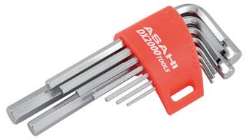 ASAHI AXS0910 DX2000 Tools Hexagon Key Wrench 9 Pieces Set