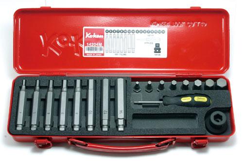 Ko-ken 14204M 1/2 (12.7mm)sq. インパクト ヘックスビットソケットセット 18ヶ組 コーケン / 山下工研