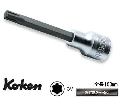 """Ko-ken 3027.100-M5 3/8""""sq. CV比特插口全长100mm M5 KO-KEN Koken/山下工研究室"""