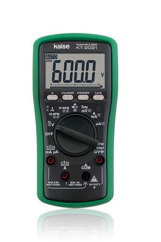 KAISE カイセ 自動車 用 多機能テスター KT-2021 (各種電装系チェックに対応 バックライト付大型LCD)