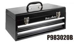 Pro-Auto P983020B 2段ポータブル (L=435)ツールボックス (黒) ベアリング式 (P302シリーズ)プロオート SEK SUEKAGE スエカゲツール