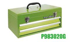Pro-Auto P983020G 2段ポータブル (L=435)ツールボックス (緑) ベアリング式 (P302シリーズ)プロオート SEK SUEKAGE スエカゲツール