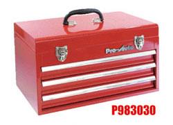 Pro-Auto P983030 3段ポータブルツールボックス (赤) ベアリング式 (P303シリーズ)プロオート SEK SUEKAGE スエカゲツール