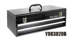 ワイドに! (L=555) Pro-Auto Y983020B 2段 ツールボックス (黒) ベアリング式 (Y302シリーズ)プロオート SEK SUEKAGE スエカゲツール