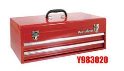 ワイドに! (L=555) Pro-Auto Y983020 2段 ツールボックス (赤) ベアリング式 (Y302シリーズ)プロオート SEK SUEKAGE スエカゲツール