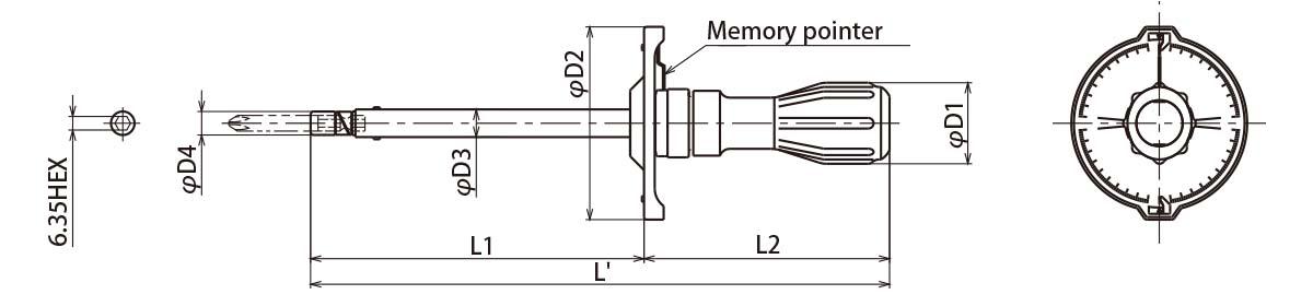 TOHNICH FTD100CN2-S Dial Type Torque Driver 10-100cn.m(0.1-1n.m)