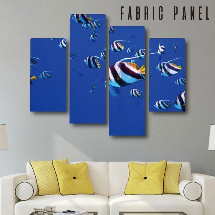 ファブリック パネル モルティブ 風景 12デザイン 木工 布プリント 取り付け部材付き 海 水中 魚 淡水魚 フォトパネル 世界 風景 デザインパネル 写真