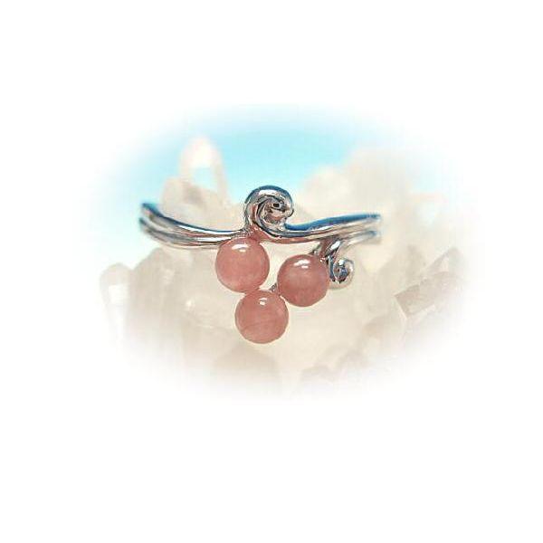【 送料無料 】 パワーストーン 天然石 リング 「 インカローズ・リング 」 クリスタル(水晶) アクセサリー 厄除け 魔除け 開運