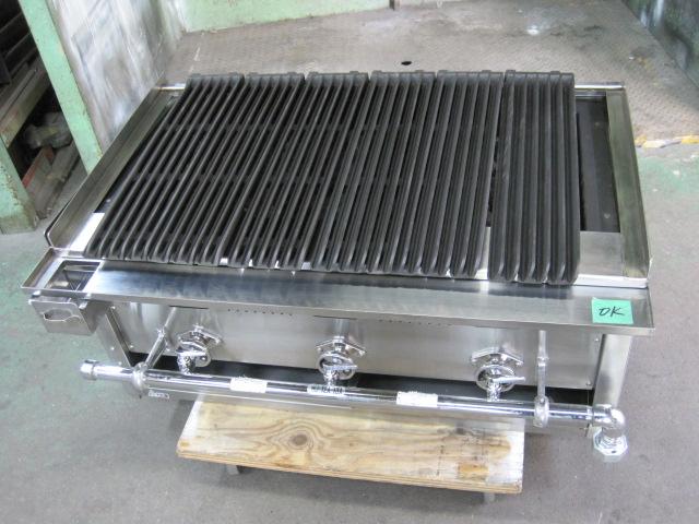 【秋元ステンレス】【業務用】【中古】 溶岩石焼物器 グリラー CEL-90ST* 都市ガス自社6ヶ月保証