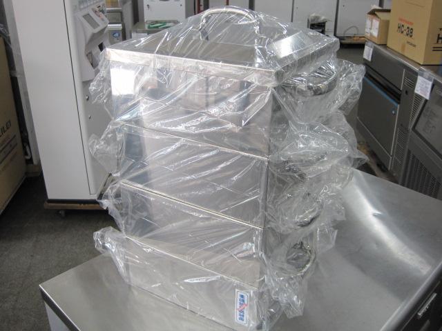 送料無料!【W300xD300xH500mm】【業務用】【未使用新古品】 角蒸し器(3段)  蒸器