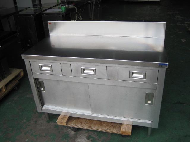 【W1200xD600xH800mm】【業務用】【中古】 調理台 C3315 バックガード H150xD60mm