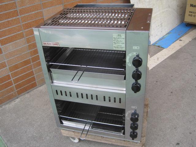 【中古】【アサヒサンレッド】焼物器AS-66EX都市ガスアサヒサンレッド6ヶ月保証