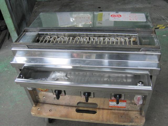 【ヒゴグリラー】【業務用】【中古】 卓上焼き鳥焼器 3P-204KC 三相200V自社6ヶ月保証