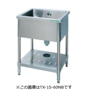 【タニコー】 【業務用】【新品】【W900xD600xH800mm】1槽シンクTX-1S-90NBバックガードなし