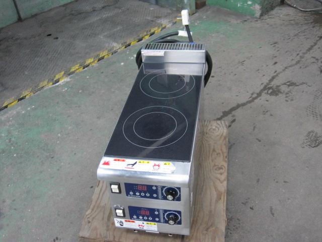 2018年製【ニチワ】【業務用】【中古】 多目的IHコンロ MIR-1.3WT 単相200V自社6ヶ月保証