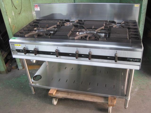 2010年製 【マルゼン】 【中古】ガステーブル MGTX-126C 都市ガス 自社6ヶ月保証