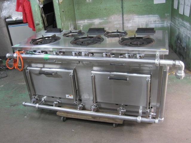 2012年製【タニコー】【業務用】【中古】 ガスレンジ S-TGR-150* 都市ガス自社6ヶ月保証