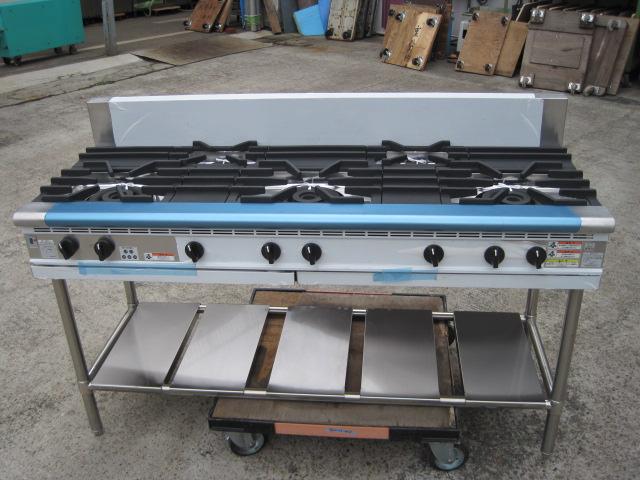 2014年製【フジマック】【未使用】ガステーブルFGTNS156032プロパンガス1年保証