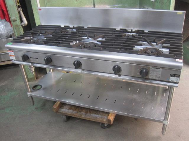 2012年製 【マルゼン】 中古ガステーブル RGT-1565B 都市ガス 自社6ヶ月保証
