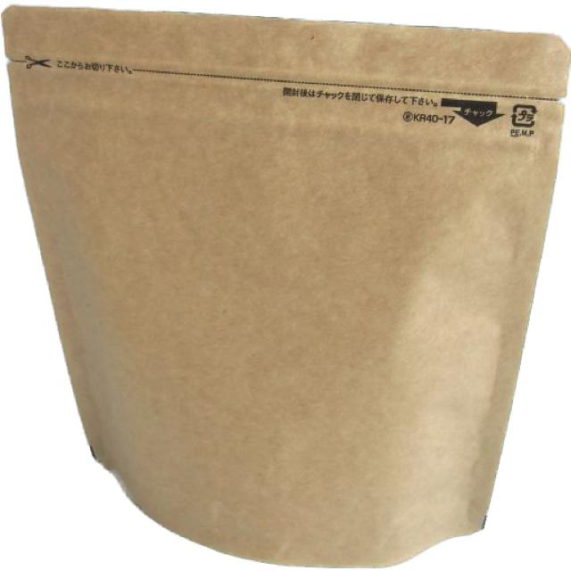 セイニチ クラフト紙スタンドパック KR40-17 (1,000枚) 150×170+35mm(底)生産日本社/チャック袋/脱酸素剤対応袋(時間指定不可)