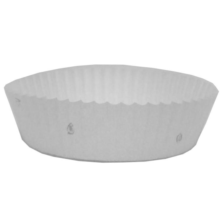 純白ペット(白無地)90φ×30H(6,000枚) リサイクル(紙)マーク入 純白紙の裏側にPETフィルムを施した紙製のトレー