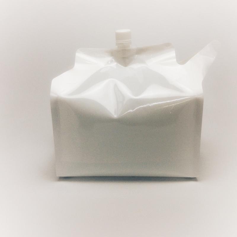 【納期1ヶ月以上/リピートユーザー限定】夢パックDP16GW4000T(300枚)大容量4L 2ピースキャップ付白印刷ガゼット袋