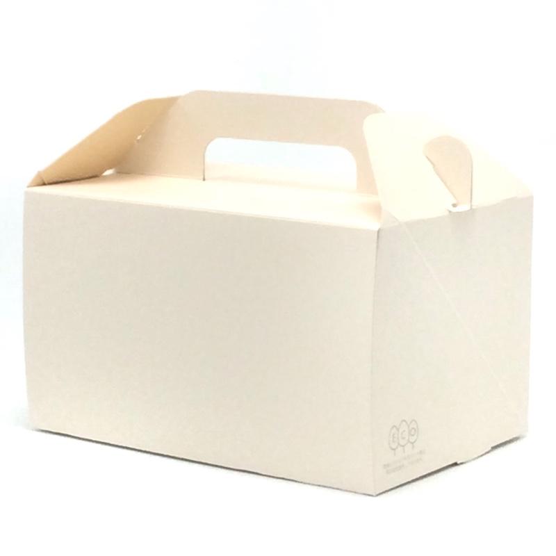 ケーキ箱 WDエコキャリー 105 #750(200枚) 210×150×105mm 洋生菓子 サイドオープン式 サービス箱 和気(100287)