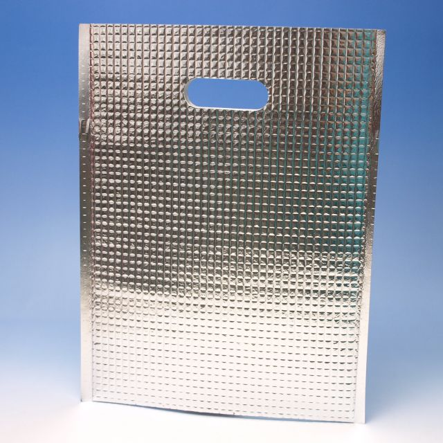 アルミ平保冷袋MF(S) (500枚) 215×280mm(取手穴有り)密着テープ無し 保冷バッグ(時間指定不可) (北海道/沖縄/離島への発送はできません)