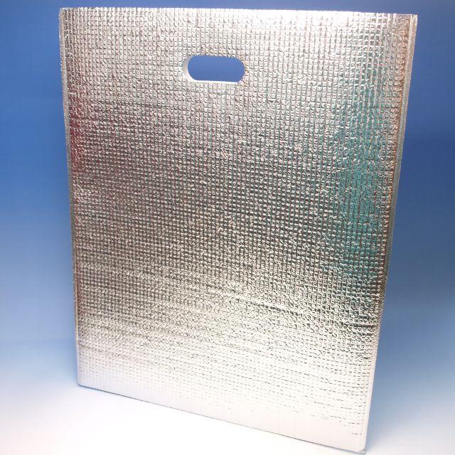 アルミ平保冷袋MF(LL) (260枚) 380×475mm(取手穴有り)密着テープ無し 保冷バッグ(時間指定不可) (北海道/沖縄/離島への発送はできません)