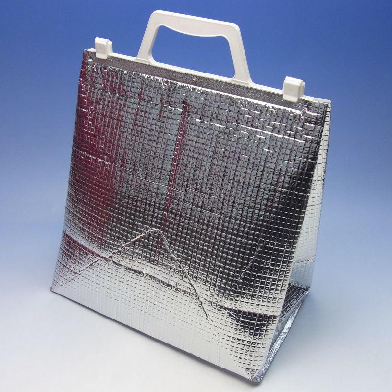 アルミ手提げ角底保冷袋 アイス M (200枚) 275×135×290mm 保冷バッグ 保冷バック(時間指定不可) (北海道/沖縄/離島への発送はできません)