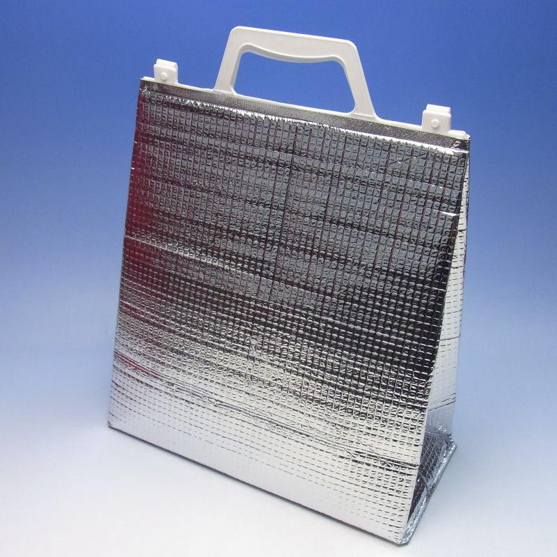 アルミ手提げ角底保冷袋(小)(200枚) 275×160×280mm 保冷バッグ 保冷バック(時間指定不可) (北海道/沖縄/離島への発送はできません)