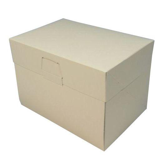 ケーキ箱 ロックBOX105 アイボリー 6×8(200枚)180mm×240mm×105mm ロックボックス パッケージ中澤