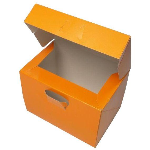 ケーキ箱 ロックBOX105 ネーブル 6×8(200枚)180mm×240mm×105mm高 ロックボックス パッケージ中澤【本州/四国/九州は送料無料】