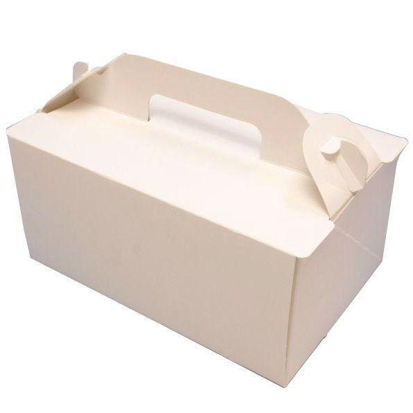 ケーキ箱 OPL ホワイト 3×4(500枚) 90×120×90mm ショートケーキ用 手提げサイドオープン式 パッケージ中澤