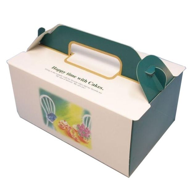 ケーキ箱 OPL ハピータイム 4×6(400枚) 120×180×90mm ショートケーキ用 手提げサイドオープン式 パッケージ中澤