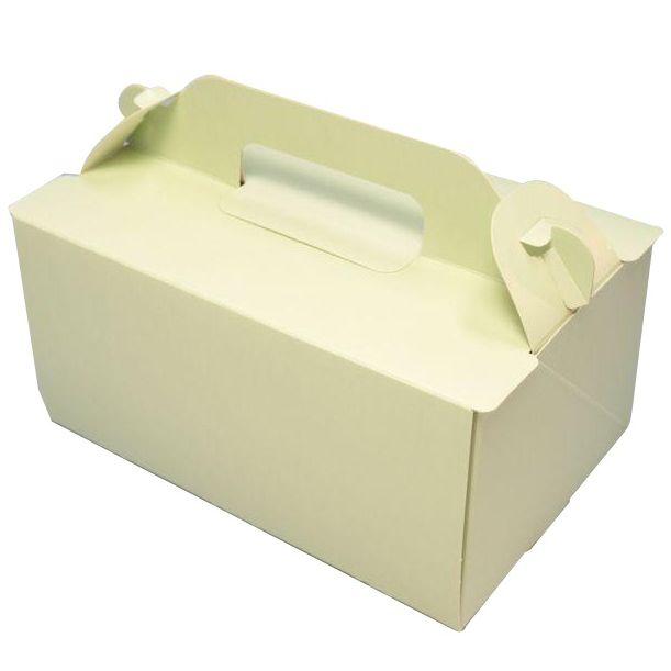 ケーキ箱 OPL ライム 5×7(300枚) 150×210×90mm ショートケーキ用 手提げサイドオープン式 パッケージ中澤