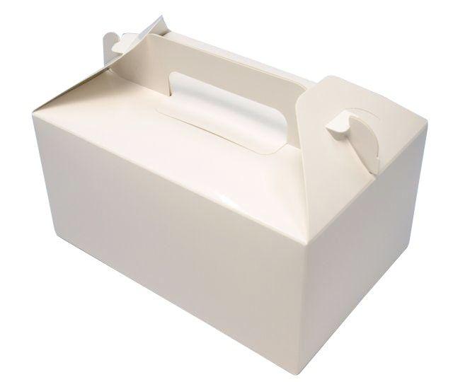 284 HBホワイトP6×8(300枚) 180×240×90mm  洋菓子 トップオープン式 パッケージ中澤 【本州/四国/九州は送料無料】