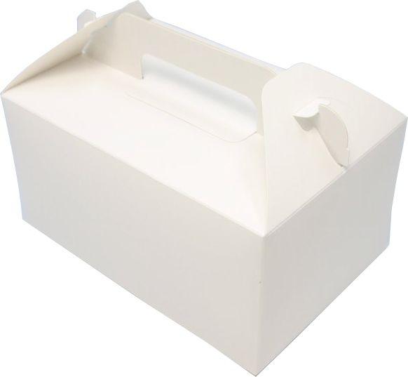 ケーキ箱 HB白ム地 4×6(500枚) 120×180×90mm 洋生菓子 トップオープン式 サービス箱 パッケージ中澤