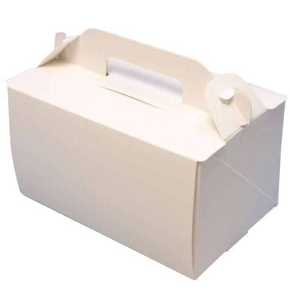 ケーキ箱 105 OPLホワイト4×6 120×180×105mm(300枚) 高さ10.5cm ショートケーキ用 手提げサイドオープン式 パッケージ中澤 【本州/四国/九州は送料無料】